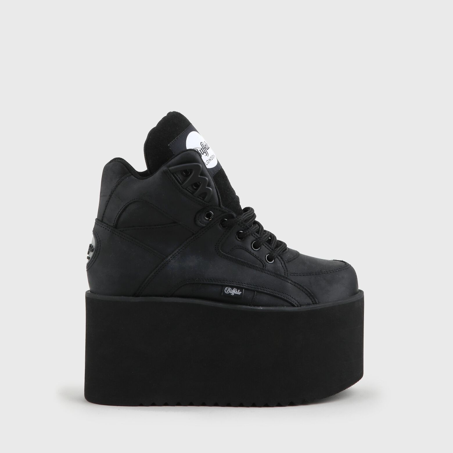 Buffalo Lodon Rising Towers High nubuck leather black