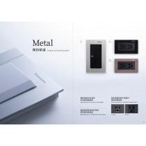 國際牌CLATIMA系列埋入式附接地極雙插座(附化妝蓋板)WTGF1512H兩插接地含蓋板